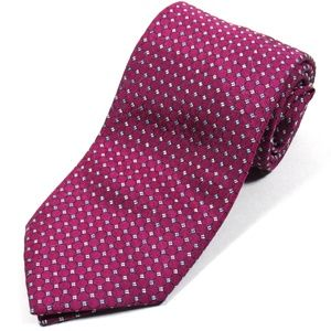 BRIONI Mens Textured Tie Magenta Made Italy